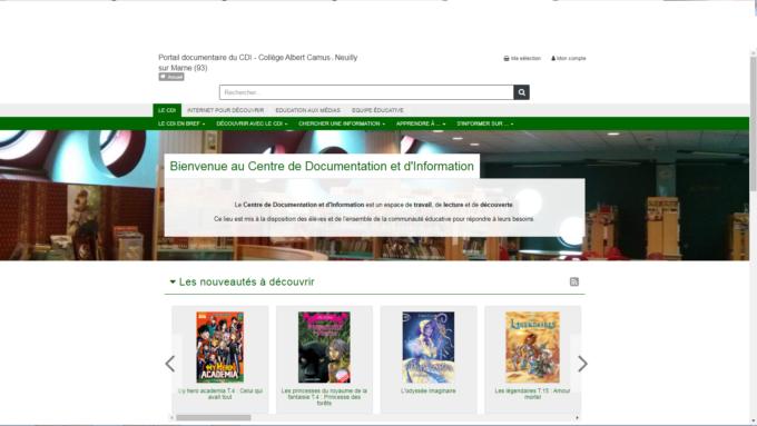 Page d'accueil du Portail Esidoc
